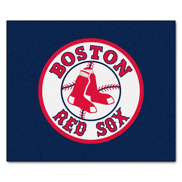 Fanmats Machine-Made Boston Red Sox Blue Nylon Tailgater Mat (5' x 6')