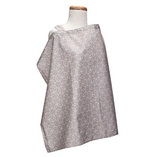 Trend Lab Circles Grey Nursing Cover