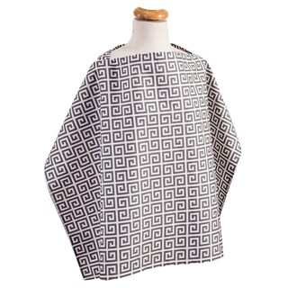 Trend Lab Grey Greek Key Nursing Cover