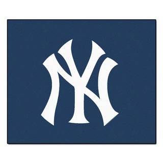Fanmats Machine Made New York Yankees Blue Nylon Tailgater Mat 5 X 6