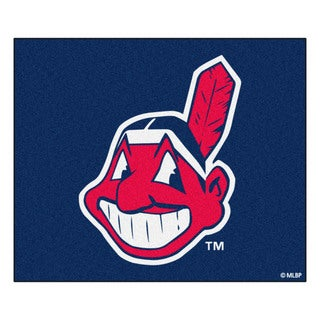 Fanmats Machine-Made Cleveland Indians Blue Nylon Tailgater Mat (5' x 6')