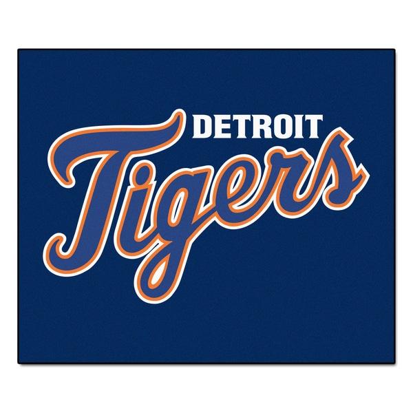 Fanmats Machine-Made Detroit Tigers Blue Nylon Tailgater Mat (5' x 6')