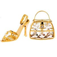 Matashi Gold Plated Fancy Lady Ornaments Set with Genuine Matashi Crystals