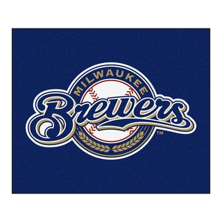 Fanmats Machine-Made Milwaukee Brewers Blue Nylon Tailgater Mat (5' x 6')