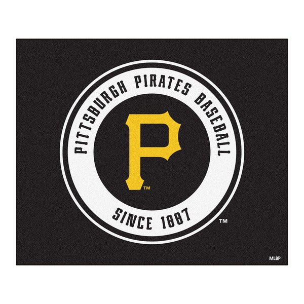 Fanmats Machine-Made Pittsburgh Pirates Black Nylon Tailgater Mat (5' x 6')