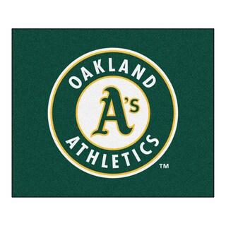 Fanmats Machine-Made Oakland Athletics Green Nylon Tailgater Mat (5' x 6')