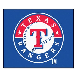 Fanmats Machine-Made Texas Rangers Blue Nylon Tailgater Mat (5' x 6')