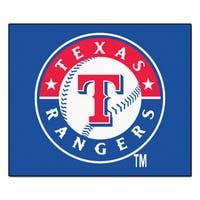 Fanmats Machine-Made Texas Rangers Blue Nylon Tailgater Mat (5' x 6')