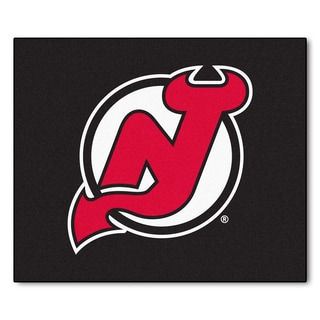 Fanmats Machine-Made New Jersey Devils Black Nylon Tailgater Mat (5' x 6')