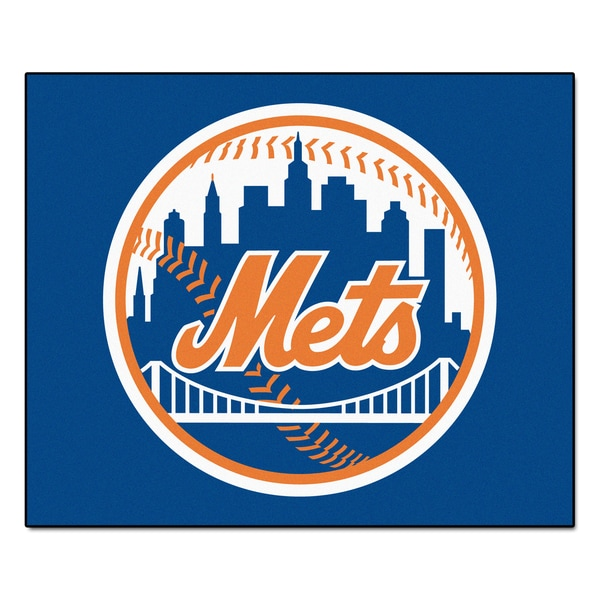 Fanmats Machine-Made New York Mets Blue Nylon Tailgater Mat (5' x 6')
