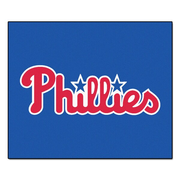 Fanmats Machine-Made Philadelphia Phillies Blue Nylon Tailgater Mat (5' x 6')