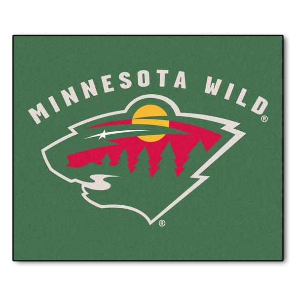Fanmats Machine-Made Minnesota Wild Green Nylon Tailgater Mat (5' x 6')