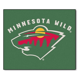 Fanmats Machine-Made Minnesota Wild Green Nylon Tailgater Mat (5' x 6')