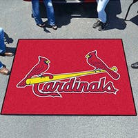 Fanmats Machine-Made St. Louis Cardinals Red Nylon Tailgater Mat (5' x 6')