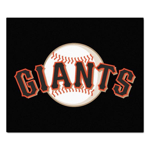 Fanmats Machine-Made San Francisco Giants Black Nylon Tailgater Mat (5' x 6')