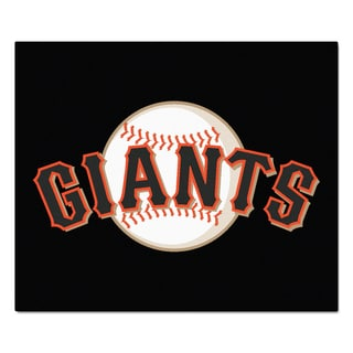 Fanmats Machine-Made San Francisco Giants Black Nylon Tailgater Mat (5' x 6')