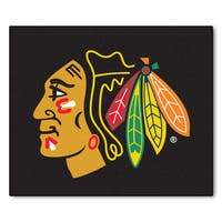 Fanmats Machine-Made Chicago Blackhawks Black Nylon Tailgater Mat (5' x 6')