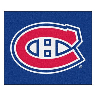 Fanmats Machine-Made Montreal Canadiens Blue Nylon Tailgater Mat (5' x 6')