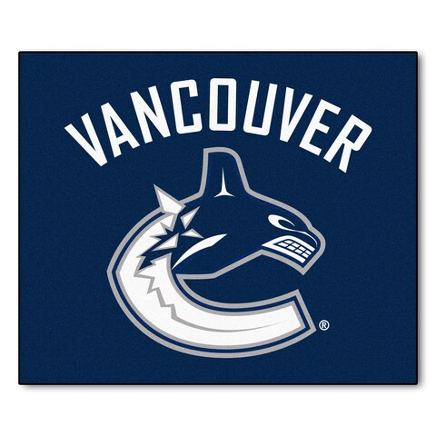 Fanmats Machine-Made Vancouver Canucks Blue Nylon Tailgater Mat (5' x 6')