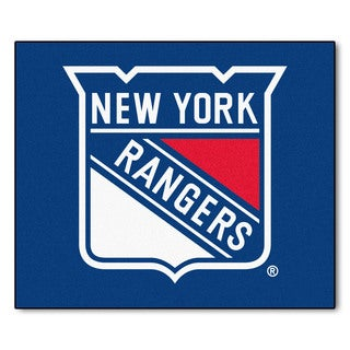 Fanmats Machine-Made New York Rangers Blue Nylon Tailgater Mat (5' x 6')