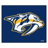 Fanmats Machine-Made Nashville Predators Blue Nylon Tailgater Mat (5' x 6')