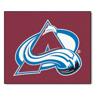 Fanmats Machine-Made Colorado Avalanche Burgundy Nylon Tailgater Mat (5' x 6')