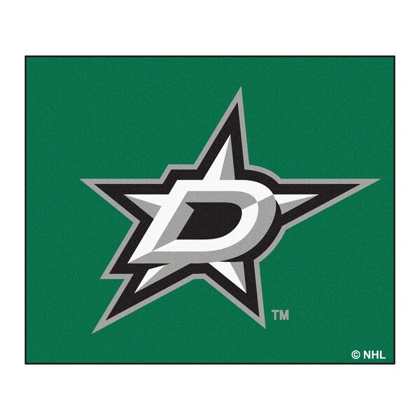 Fanmats Machine-Made Dallas Stars Green Nylon Tailgater Mat (5' x 6')