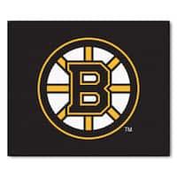 Fanmats Machine-Made Boston Bruins Black Nylon Tailgater Mat (5' x 6')