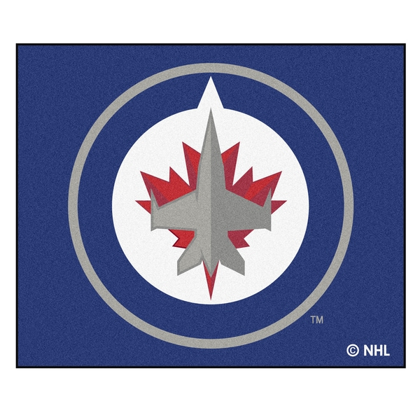 Fanmats Machine-Made Winnipeg Jets Blue Nylon Tailgater Mat (5' x 6')