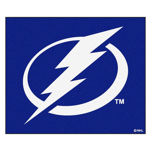 Fanmats Machine-Made Tampa Bay Lightning Blue Nylon Tailgater Mat (5' x 6')