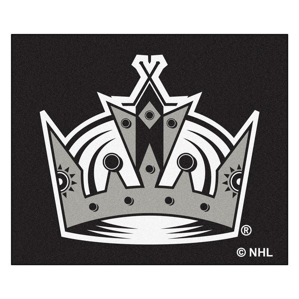 Fanmats Machine-Made Los Angeles Kings Black Nylon Tailgater Mat (5' x 6')