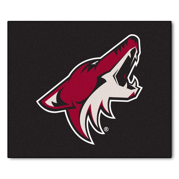 Fanmats Machine-Made Phoenix Coyotes Black Nylon Tailgater Mat (5' x 6')