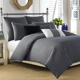 Nautica Longitude Navy 3 Piece Duvet Cover Set Free