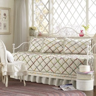 laura ashley ruffled garden 5piece quilted daybed cover set