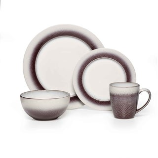 Pfaltzgraff Eclipse Plum Dinnerware 16-piece Set
