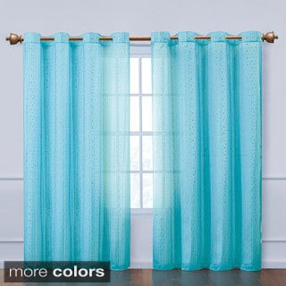 VCNY Abbey Sequence Grommet Curtain Panel