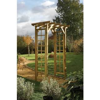 English Garden Large Wooden Square Top Arch