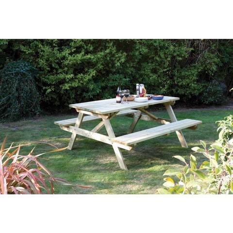 English Garden 5-foot Wood Picnic Table
