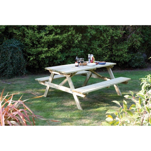 English Garden 5-foot Wood Picnic Table