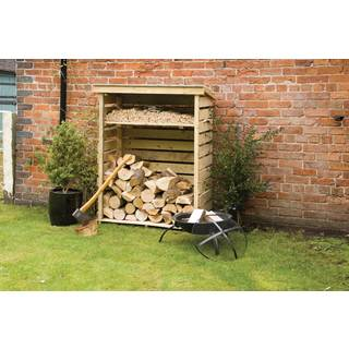English Garden Firewood Storage Shed