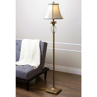 ABBYSON LIVING Alexandra Antiqued Gold Pineapple Floor Lamp