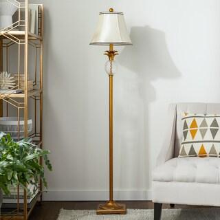 Abbyson Alexandra Antiqued Gold Pineapple 61-inch Floor Lamp