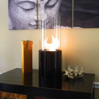 Doppio Noir Tabletop Cylinder Portable Fireplace