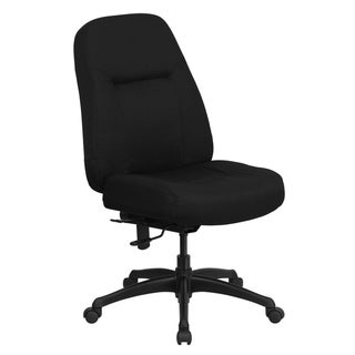 400 lb. Rated High Back Big & Tall Black Fabric Swivel Ergonomic Office Chair