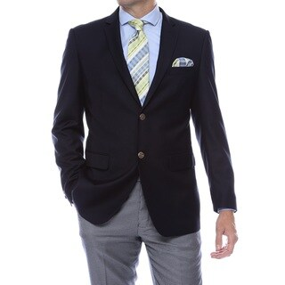 Link to Zonettie-Ferrecci Solid Color Regular Fit Blazer Jacket - Business / Casual / Everyday Blazer Similar Items in Sportcoats & Blazers