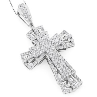 Luxurman 14k Gold 3 3/4ct TDW Diamond Cross Pendant|https://ak1.ostkcdn.com/images/products/10106060/P17246454.jpg?_ostk_perf_=percv&impolicy=medium