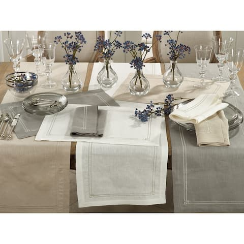 Embroidered Border Linen Placement (Set of 4)