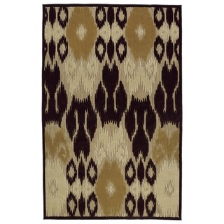 Indoor/Outdoor Luka Brown Ikat Rug (5'0 x 7'6)