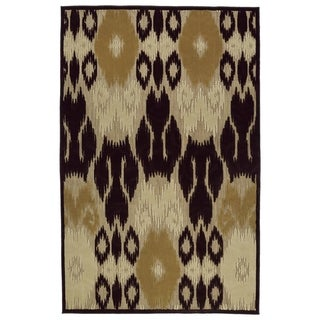 Indoor/Outdoor Luka Brown Ikat Rug (3'10 x 5'8)