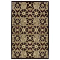 "Indoor/Outdoor Luka Brown Medallions Rug - 8'8"" x 12'"